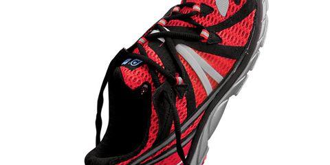 Red, Carmine, Magenta, Maroon, Running shoe, Walking shoe, Outdoor shoe, Tennis shoe, Cross training shoe, Synthetic rubber,