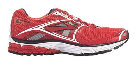 Footwear, Product, Shoe, Sportswear, Athletic shoe, Red, White, Sneakers, Logo, Pattern,