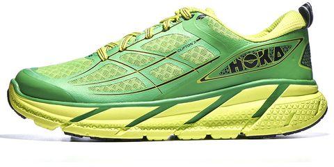 Footwear, Green, Product, Shoe, Yellow, Athletic shoe, White, Sportswear, Sneakers, Line,