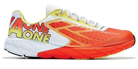 Logo, Athletic shoe, Orange, Carmine, Sneakers, Walking shoe, Brand, Cleat, Outdoor shoe, Tennis shoe,