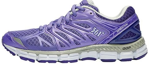 Footwear, Product, Shoe, Athletic shoe, Sportswear, White, Purple, Sneakers, Light, Logo,
