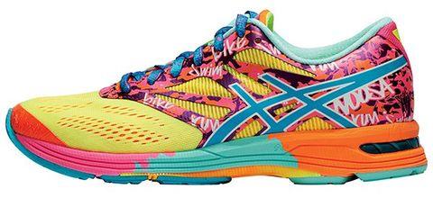 Footwear, Product, Yellow, Magenta, Orange, Athletic shoe, Carmine, Purple, Tan, Sneakers,