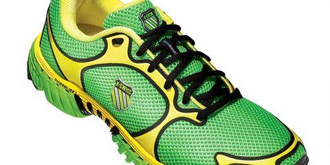 Footwear, Product, Green, Shoe, Yellow, Athletic shoe, Sportswear, Line, Sneakers, Running shoe,