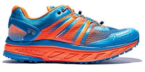 Footwear, Blue, Product, Shoe, Athletic shoe, Sportswear, White, Orange, Sneakers, Line,