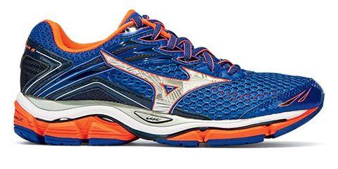 Footwear, Blue, Product, Shoe, Sportswear, Athletic shoe, Orange, White, Red, Sneakers,