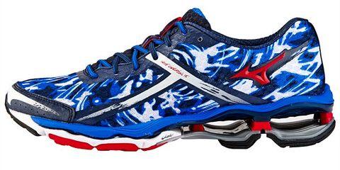 Blue, Product, Athletic shoe, White, Sportswear, Electric blue, Carmine, Running shoe, Azure, Logo,