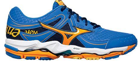 Footwear, Blue, Product, Yellow, Shoe, Athletic shoe, Sportswear, White, Orange, Sneakers,