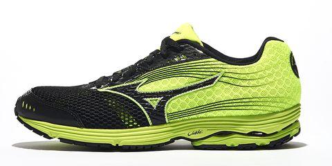 Footwear, Product, Green, Yellow, Sportswear, Shoe, Athletic shoe, White, Line, Logo,