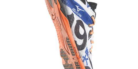 Orange, Carmine, Tan, Peach, Cleat, Synthetic rubber, Boot, Walking shoe,