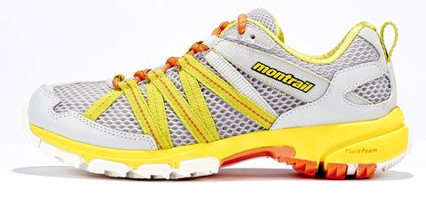 Footwear, Product, Shoe, Yellow, White, Sportswear, Athletic shoe, Line, Sneakers, Orange,