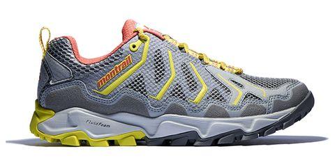 Footwear, Product, Yellow, Sportswear, Shoe, Athletic shoe, White, Line, Running shoe, Sneakers,