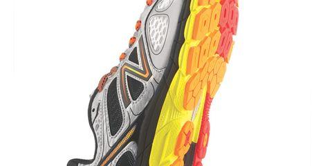 Shoe, Orange, Athletic shoe, Running shoe, Font, Carmine, Grey, Synthetic rubber, Sneakers, Walking shoe,
