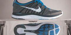 Product, Blue, Shoe, Sportswear, Athletic shoe, White, Logo, Aqua, Light, Electric blue,