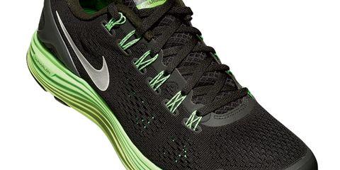 Footwear, Green, Shoe, Product, Athletic shoe, Logo, Font, Sneakers, Carmine, Black,