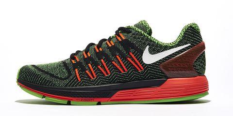 Footwear, Product, Green, Shoe, Athletic shoe, Sportswear, White, Red, Orange, Sneakers,