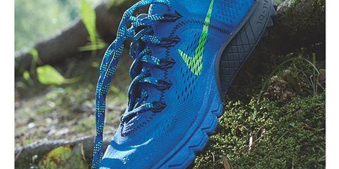 Blue, Grass, Shoe, Athletic shoe, Cleat, Running shoe, Electric blue, Majorelle blue, Azure, Cobalt blue,