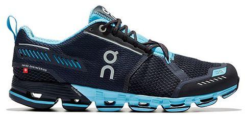 Blue, Product, White, Athletic shoe, Logo, Aqua, Teal, Azure, Black, Turquoise,