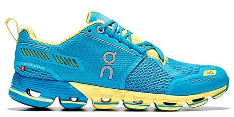 Footwear, Blue, Product, Yellow, Shoe, Athletic shoe, White, Sportswear, Aqua, Line,