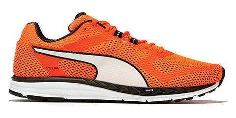 Footwear, Product, Shoe, Orange, Sportswear, Red, White, Athletic shoe, Line, Sneakers,