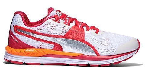 Footwear, Product, Shoe, White, Red, Line, Orange, Sneakers, Carmine, Fashion,