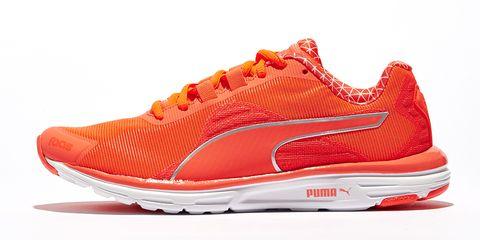 Footwear, Product, Shoe, Red, White, Orange, Line, Light, Sneakers, Carmine,