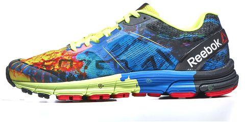 Blue, Product, Yellow, Athletic shoe, Aqua, Carmine, Running shoe, Electric blue, Sneakers, Orange,