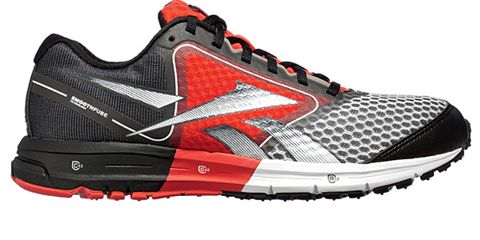 Footwear, Product, Athletic shoe, White, Red, Line, Sportswear, Orange, Font, Light,