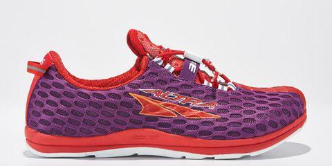 Footwear, Shoe, Product, Red, White, Orange, Athletic shoe, Carmine, Magenta, Fashion,