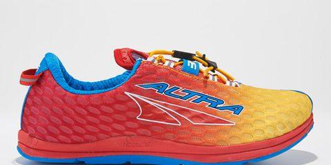 Orange, Logo, Carmine, Azure, Walking shoe, Outdoor shoe, Brand,