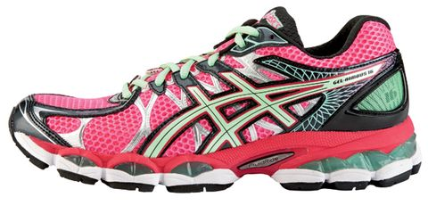 Footwear, Product, Athletic shoe, Shoe, Magenta, White, Red, Pink, Line, Font,