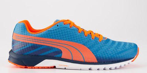 Product, Shoe, Orange, White, Athletic shoe, Sportswear, Line, Aqua, Sneakers, Logo,