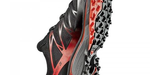 Sports equipment, Athletic shoe, Sports gear, Cleat, Carmine, Running shoe, Grey, Maroon, Synthetic rubber, Outdoor shoe,