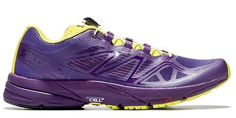 Footwear, Shoe, Product, Yellow, Purple, Athletic shoe, Violet, Sportswear, White, Line,