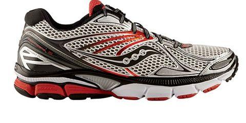 Footwear, Product, Athletic shoe, Sportswear, Shoe, Red, White, Running shoe, Style, Line,