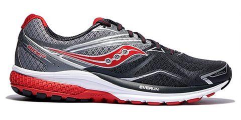 Footwear, Product, Shoe, Sportswear, Athletic shoe, Red, White, Sneakers, Line, Logo,