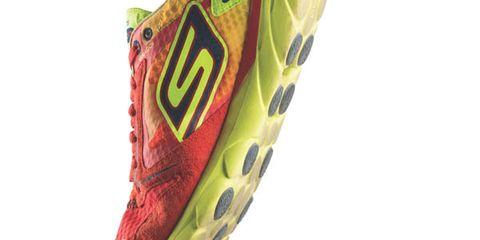 Green, Athletic shoe, Logo, Carmine, Cleat, Camouflage, Outdoor shoe, Symbol, Running shoe, Walking shoe,