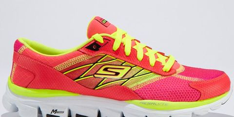 Footwear, Product, Shoe, Yellow, Athletic shoe, Sportswear, Red, White, Magenta, Pink,
