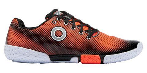Footwear, Shoe, Product, Brown, Orange, Athletic shoe, White, Red, Sportswear, Line,