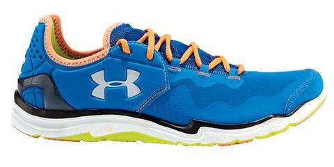 Footwear, Blue, Product, White, Line, Athletic shoe, Aqua, Logo, Electric blue, Font,