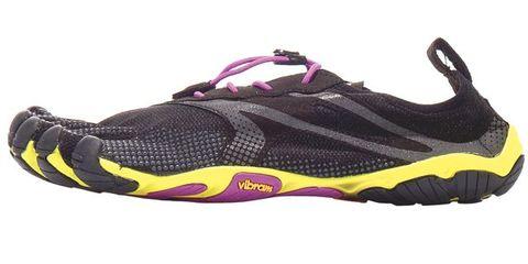 Footwear, Product, Yellow, Athletic shoe, Running shoe, Purple, Magenta, Violet, Carmine, Black,