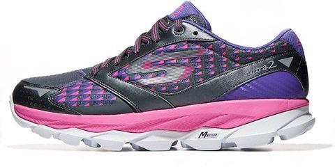 Footwear, Product, Shoe, Athletic shoe, Sportswear, Purple, Magenta, Violet, White, Pink,