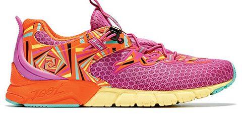 Footwear, Product, Shoe, Brown, Magenta, White, Pink, Purple, Violet, Athletic shoe,
