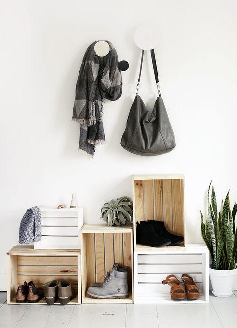 Shelf, Furniture, Room, Shelving, Interior design, Footwear, Wood, Home accessories, Home, Beige,