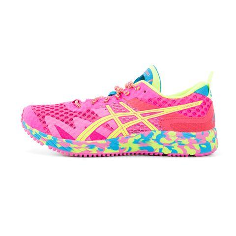 asics hardloopschoenen schoenen sportschoenen roze kleurrijk neon damesschoenen