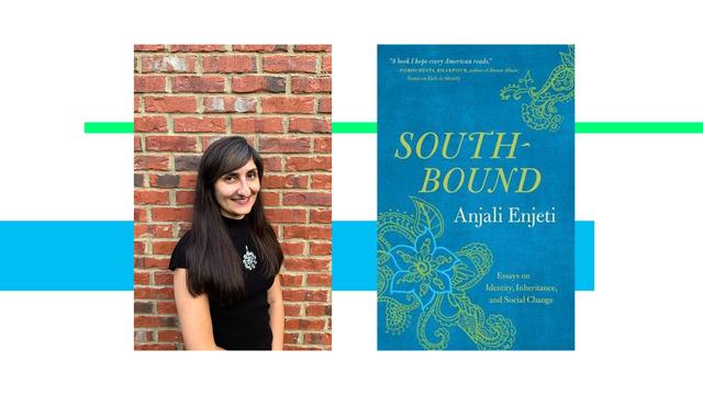 anjali enjeti next to book jacket for south bound