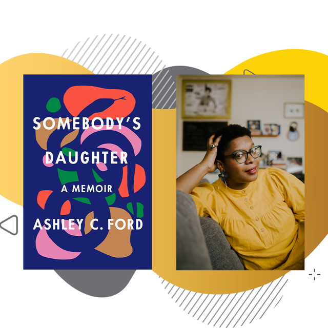 ashley c ford next to book cover somebody's daughter