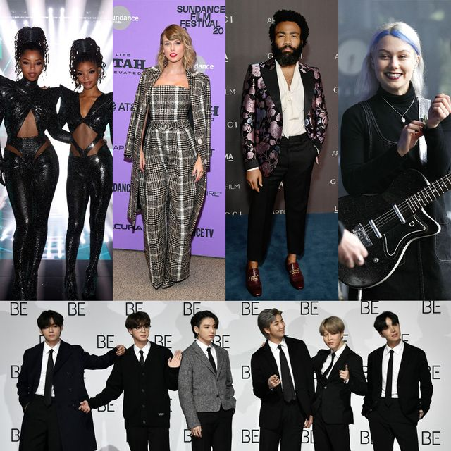 best music of 2020 bts, childish gambino, taylor swift, phoebe bridgers, chloe x halle