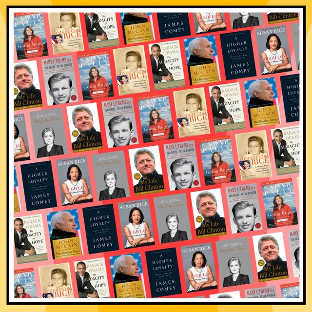 political memoirs from barack obama, hillary clinton, bill clinton, sarah palin, john mccain, etc
