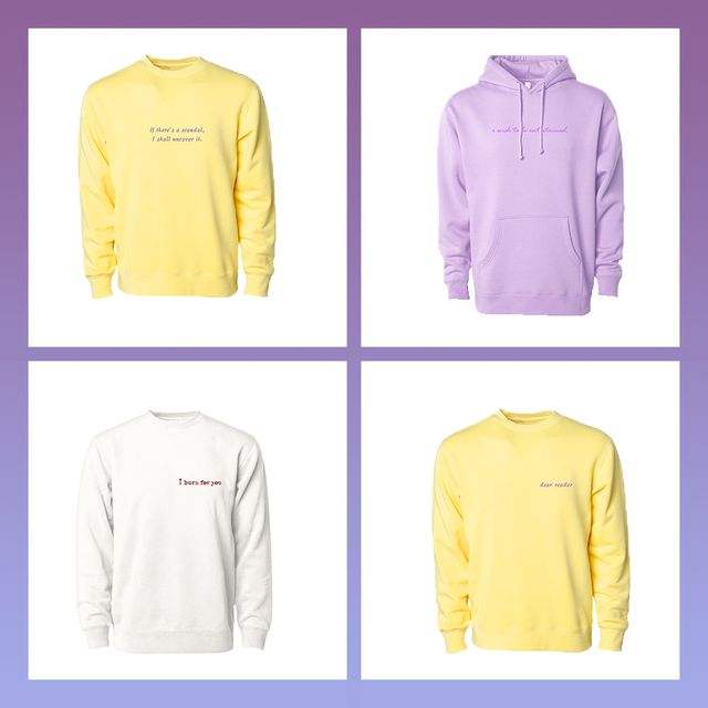 do you burn for 'brigdgerton' this new sweatshirt collection is for you