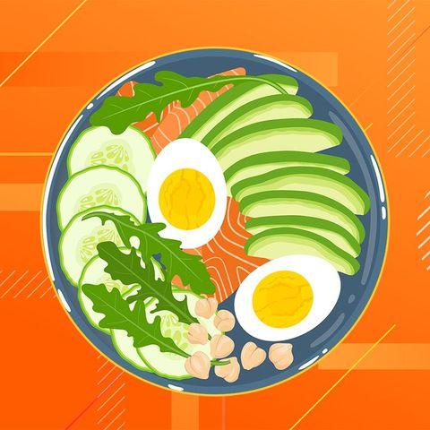 Fried egg, Dish, Circle, Food, Cuisine, Garnish, Vegetarian food, Plant, Egg, Vegetable,